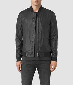 68c53017fe AllSaints New Arrivals  Mens Yoto Leather Bomber Jacket Stylish Jackets