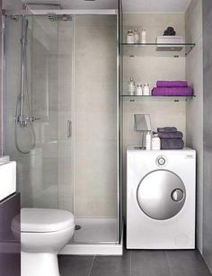 Bathrooms For Small Spaces compact laundry / shower cabin combo for small spaces