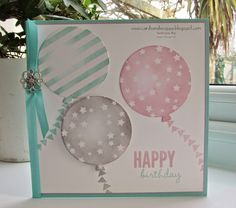 Stampin' Up UK Demonstrator Sarah-Jane Rae Cards and a Cuppa blog: A Birthday Balloon Card using Stampin' Up's Celebrate Today