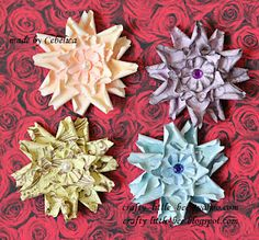 Video and picture tutorial on how to make these paper flowers