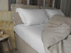bed makeover - 2 x Orkney Queen shams - 2 x Smooth White pillow slips - Queen sheet - duvet cover - bedskirt -