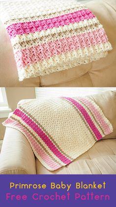 Primrose Baby Blanket Free Crochet Pattern #crochet #crafts #homedecor #handmade #blanket #idea #style