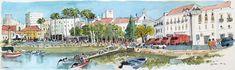 https://flic.kr/p/mJqnet   croquis aquarellé: Faro - Portugal   croquis bic et aquarelle sur place (carnet aquarelle Moleskine - 2 heures de travail) /  on location bic and wash sketch  (moleskine watercolour book - 2 hours work)