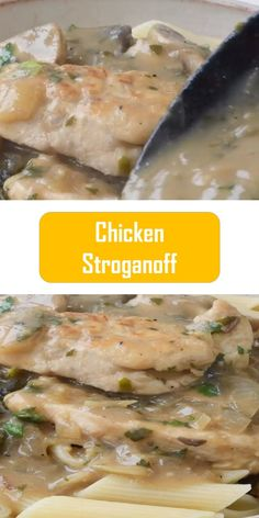 Italian Chicken Pasta in Creamy White Wine Parmesan Cheese Sauce Italian Chicken Pasta This pasta recipe will remind you of your fav. Easy Recipes, Keto Recipes, Cooking Recipes, Italian Chicken Pasta, Chicken Stroganoff, Easy Meals For Two, Pot Recipe, Desert Recipes, Main Dishes