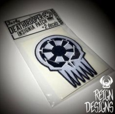 Deathtrooper Insignia Patch & 2 Decals Star Wars Rogue One inspired stormtrooper punisher death trooper imperial cog military motorcycle by ReignDesignsUSA on Etsy https://www.etsy.com/listing/486290670/deathtrooper-insignia-patch-2-decals