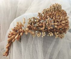 Antique FRENCH WAX Floral Bridal Wedding by chanteclairInteriors, $345.00