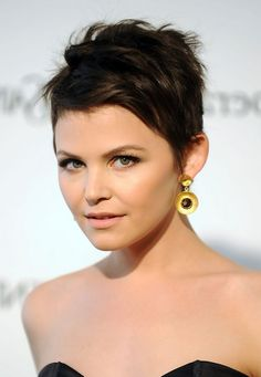 Best Short Hairstyle for Summer Ginnifer Goodwin Pixie Cut ...