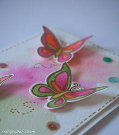 Butterfly Card Idea using Lawn Fawn Flutter By