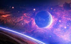 3840x2400 Wallpaper planet, light, spots, space