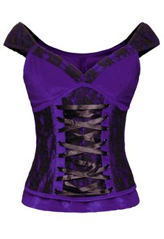 The Violet Vixen - Laced Velvet Crush Purple Top, $66.00 (http://thevioletvixen.com/clothing/laced-velvet-crush-purple-top/)