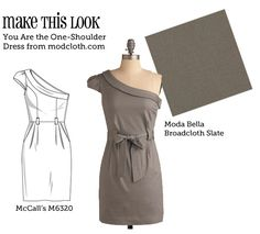 Website that matches designer dresses to sewing patterns