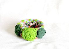 Recycled Fabric Bracelet by recyclingroom $25