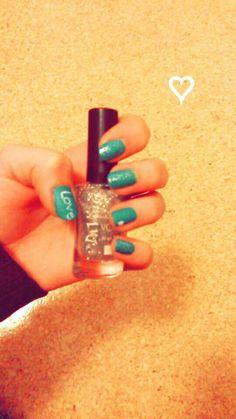 My nails ♡  Liebe grün