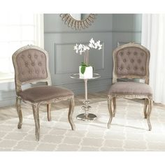 Shop for Safavieh Old World Dining Royalty Antiqued Tufted Side Chairs (Set of 2). Get free shipping at Overstock.com - Your Online Furniture Outlet Store! Get 5% in rewards with Club O!