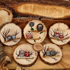 70 Ideas For Holiday Wood Crafts Diy Christmas Gifts Christmas Log, Diy Christmas Gifts, Christmas Decorations, Christmas Ornaments, Holiday Wood Crafts, Holiday Crafts, Wood Slice Crafts, Navidad Diy, Owl Crafts