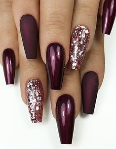 25 + › Fantastische Matte & Glossy Long Coffin Nail Designs im Jahr 2019 - Edeline Ca. 25 + ›Fantastische Matte & Glossy Long Coffin Nail Designs im Jahr 2019 - # diseños Cute Acrylic Nails, Cute Nails, My Nails, Painted Acrylic Nails, Shiny Nails, Bright Nails, Coffin Nails Long, Long Nails, Stiletto Nails