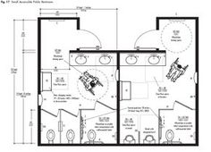 Bathroom Stalls Cad ada bathroom dimensions with simple sink and toilet for ada public