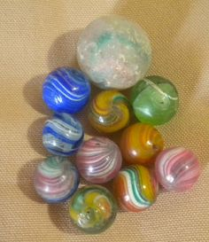 """9//16/"""" 10 x /""""MELLOW YELLOW/"""" 14mm GAME PLAY MARBLES NEW"""
