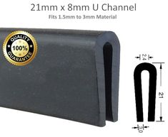 Large Rubber U Channel Edging Edge Trim Black Seal Push Fit Deep 2mm 3mm Strip 615517227088   eBay Rubber, Strip, Seal, Fitness, Harbor Seal