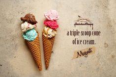 ・トリプルアイスのマグネット|RainbowCream*それは「食べられない」お菓子なデコ雑貨*