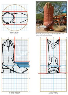 Chainsaw carving patterns free Cowboy Boot