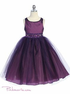 Flower Girl Dress Eggplant And Purple Baby Tutu Dress