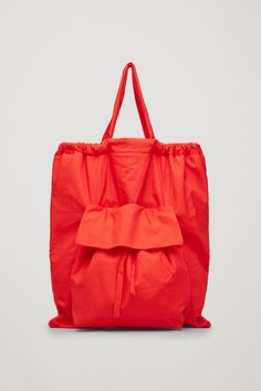 COS image 1 of Gathered tote bag  in Red