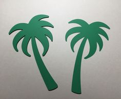 """18 Palm Tree 5"""" Paper Die Cut - Select a Color - Beach Party Luau - Place Card - Escort - Decor by MyCutieBows on Etsy"""