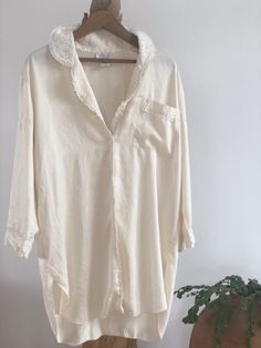 vintage button down loungewear material All Sale, Lounge Wear, Button Downs, Im Not Perfect, Tunic Tops, Buttons, Silk, Unique, How To Make