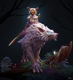 Mononoke Warcraft, Julien Desroy on ArtStation at https://www.artstation.com/artwork/4RlrW