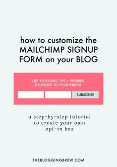 One of the best ways to promote your email list is by installing a signup form…