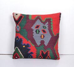 Rustic Kilim Throw Pillow Decorative cushion by PillowsHistoric
