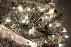 Christmas tree with pinecones