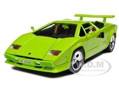 Lamborghini Countach 5000 Green 1/18 Diecast Model Car Bburago 12027