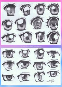 Anime Eye Styles by annoKat on deviantART