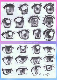 Anime Eye Styles by annoKat on deviantART