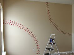 DIY- Baseball Wall... Little boy's room!!!