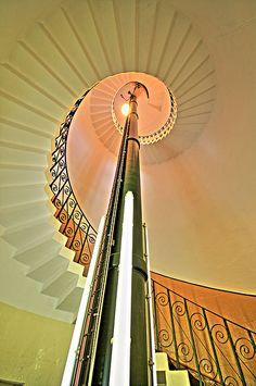Flamborough Head Lighthouse - interior.
