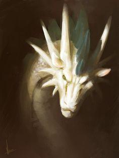 White dragon by ~MiryxG on deviantART