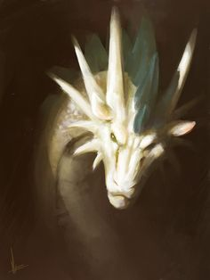 White dragon by ~MiryxG on deviantART