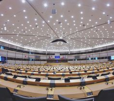 The European Parliament plenary chamber