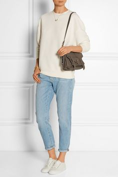 PROENZA SCHOULER The PS1 tiny leather satchel COMMON PROJECTS Tournament leather sneakers RAG & BONE The Dre mid-rise slim boyfriend jeans