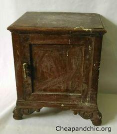 Mesilla de noche antigua sin restaurar Vintage Furniture, Diy Furniture, All Craft, Chalk Paint, Wood Crafts, Decoupage, Restoration, Recycling, Shabby Chic
