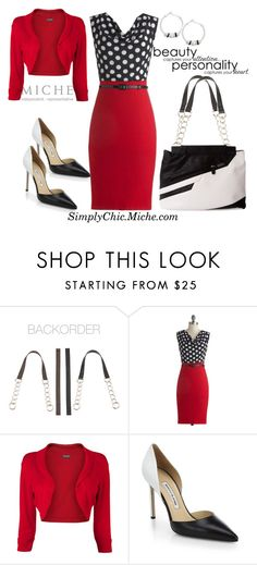 """Miche Prima Rita"" by miche-kat ❤ liked on Polyvore featuring Phase Eight, Manolo Blahnik, michebag and Interchangeablepurse"