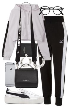 """Untitled #2660"" by mariie0h ❤ liked on Polyvore featuring Puma, FOSSIL and Givenchy"