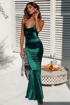 Test Of Time Maxi Dress Green - Green Dresses - Ideas of Green Dresses - - Satin Dresses, Sexy Dresses, Evening Dresses, Green Satin Dress, Emerald Green Formal Dress, Casual Dresses, Emerald Green Dresses, Green Ball Dresses, Long Satin Dress