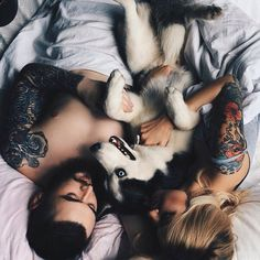 Like the angle.  Cuddle with the dog on the bed