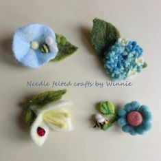 Items similar to Needle felted flower brooch- handmade wool pin each sold individually on Etsy Felt Brooch, Beaded Brooch, Felt Flowers, Fabric Flowers, Needle Felting Tutorials, Needle Felted, Brooches Handmade, Felt Ball, Spring Crafts