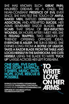 TWLOHA - the story. [this could be me. it could be you. it is all of us, and all who we know. love, please begin to love.]