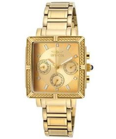 Invicta: Women's Wildflower Gold Tone Dial 18K Gold Plated Stainless Steel